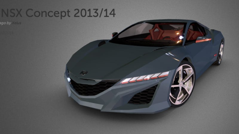 Spend Hours Playing With This 3D Model Of The 2015 NSX