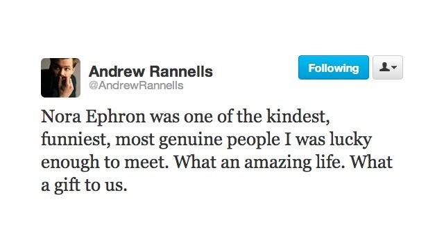 Twitter Says Goodbye to Nora Ephron