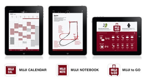 Muji Apps Provide an Elegant Notebook, Calendar, and Travel Assistant for Your iPad