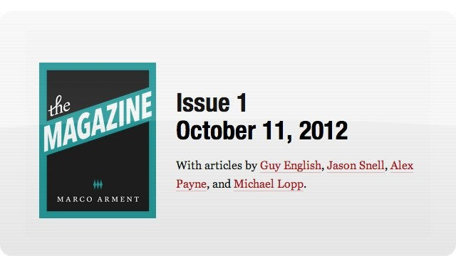 Instapaper Founder Starts an iPad Magazine Called, uh, The Magazine