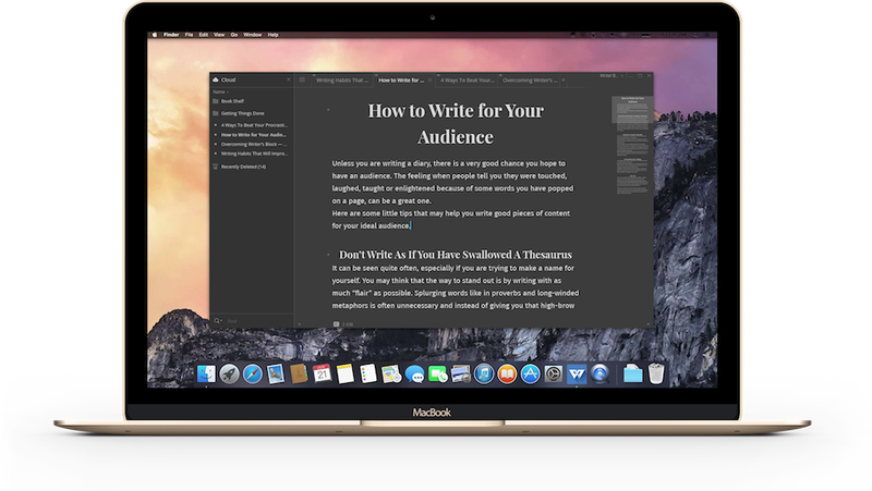 Write!, the Elegant Distraction-Free Writing App, Comes to the Mac