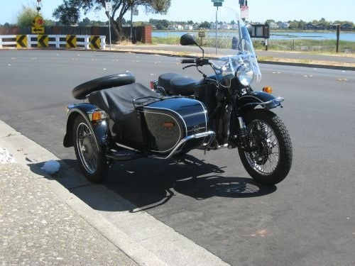 IMZ Ural Motorcycle With Sidecar