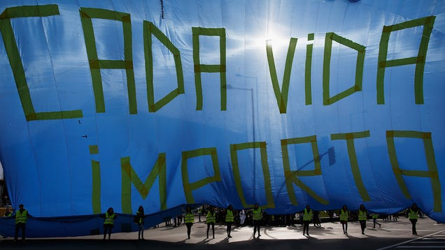 Thousands Rally Against Abortion in Madrid