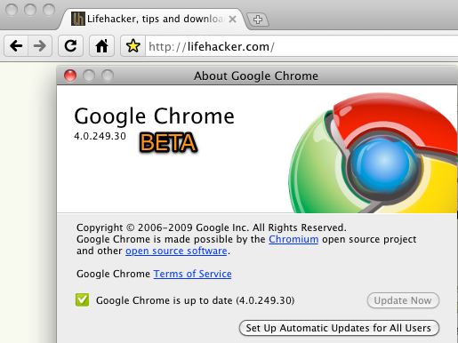 Google Chrome for Mac and Linux Finally Hits Beta; Very Fast, Pretty Stable