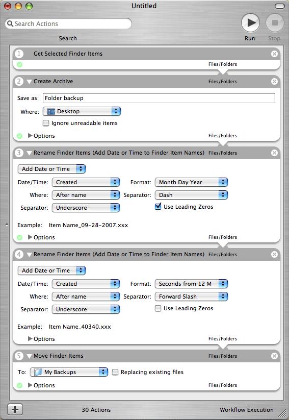 Back Up a Folder with Automator