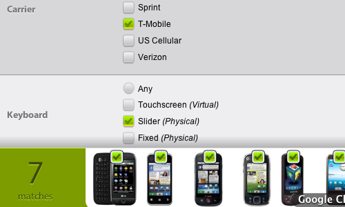 Droidthing Compares Android Phones and Tablets Based on Your Needs