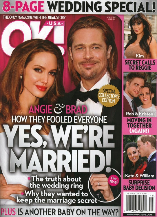 This Week in Tabloids: Angelina Thinks Her Giant Engagement Ring Is Tacky