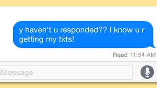 "Stop Using ""Read Receipts"" on Texts"