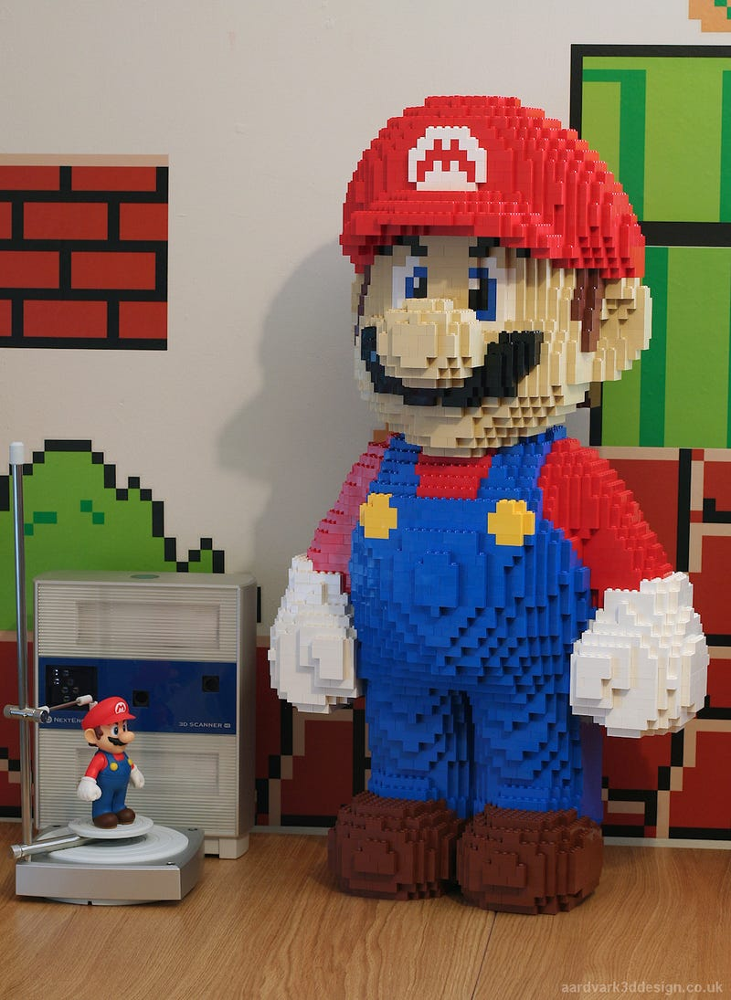 Awesome Lego Mario Model Built Using NextEngine 3D Scanner