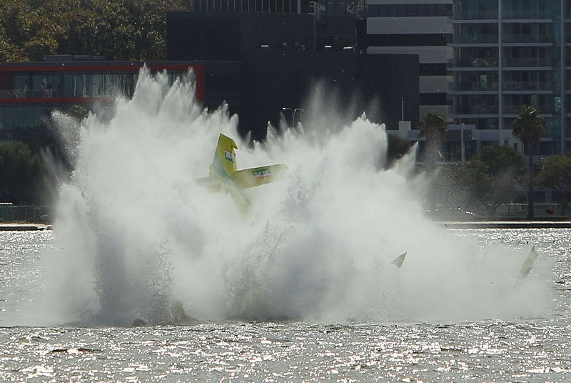 First Red Bull Air Racer Crash