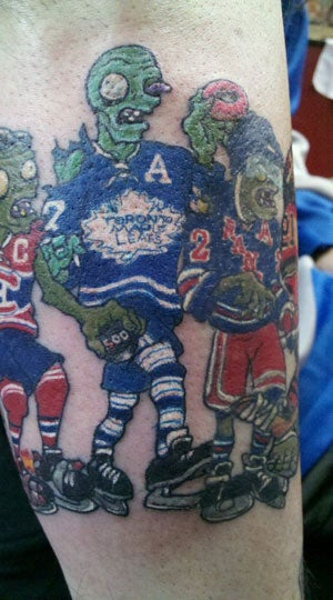 When Plants Vs. Zombies Meets the NHL, Horrible Tattoos Happen