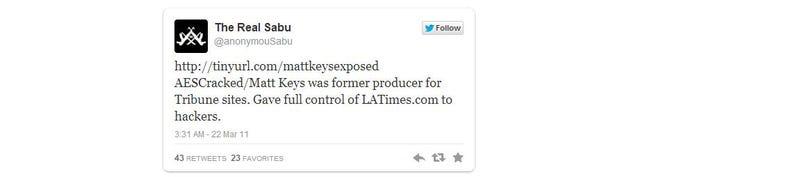 Acusan a un empleado de la agencia Reuters de ser un infiltrado de Anonymous