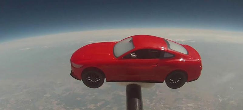 Ford Dealership Sends Tiny Mustang To Near Space