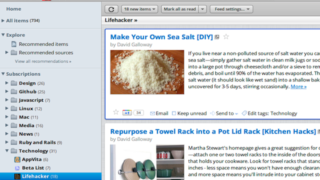 This Mac OS-Themed Userstyle Transforms Google Reader into a Clean, Well-Spaced Reader