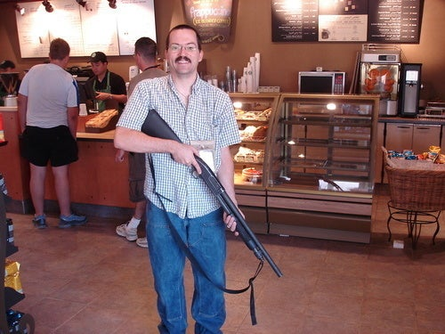 Starbucks Happily Full of Guns