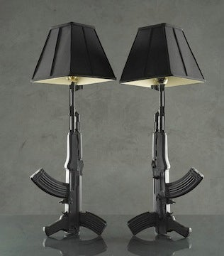Light Up a Room with These Gun Lamps