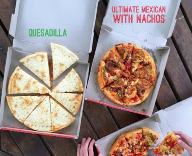 """Pizza Hut New Zealand is Serving Weird Pseudo-""""Mexican"""" Pizzas"""