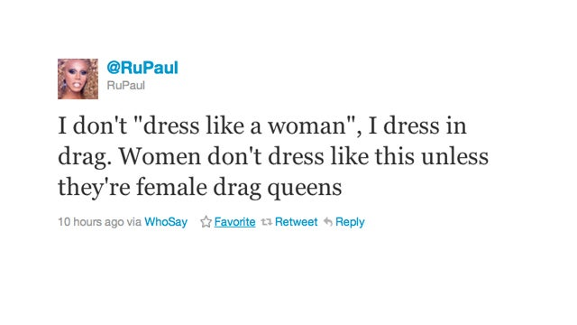 RuPaul Lets Us Know the Difference Between Dressing in Drag and Dressing Like a Woman