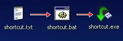 Create Shortcuts on a USB Drive
