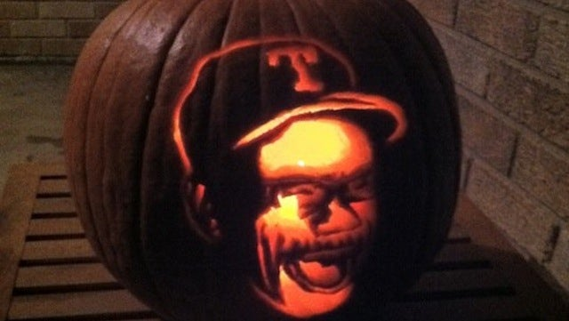 This Evening: Just In Time For The World Series, The Ron Washington Pumpkin
