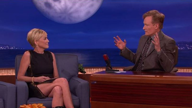 Conan O'Brien Gently Eviscerated Sharon Stone's New Movie to Her Face