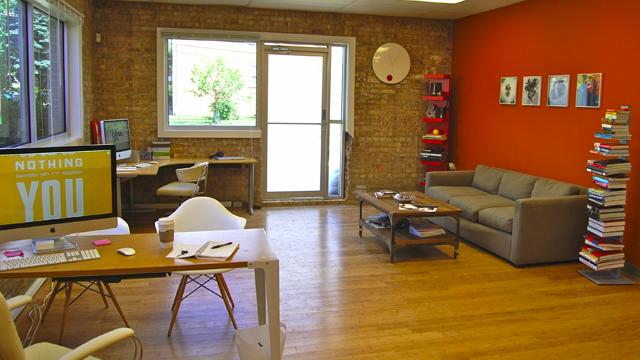 The Graphic Designer's Red Studio Workspace
