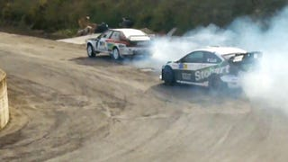 Rally Stage Turns Into Audi Quattro vs Ford Focus RS Drift Battle
