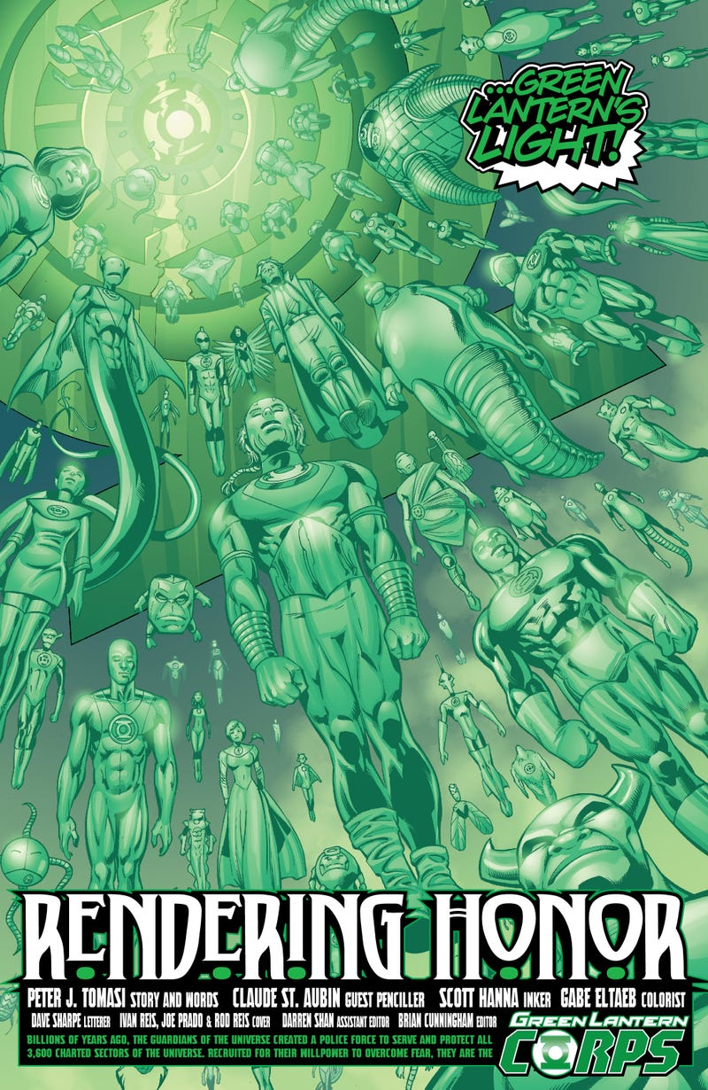 In this preview of Green Lantern Corps, see what a Green Lantern's funeral looks like