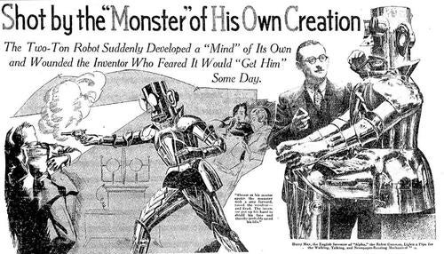 "The ""true story"" of a robot who shot his creator in 1932"