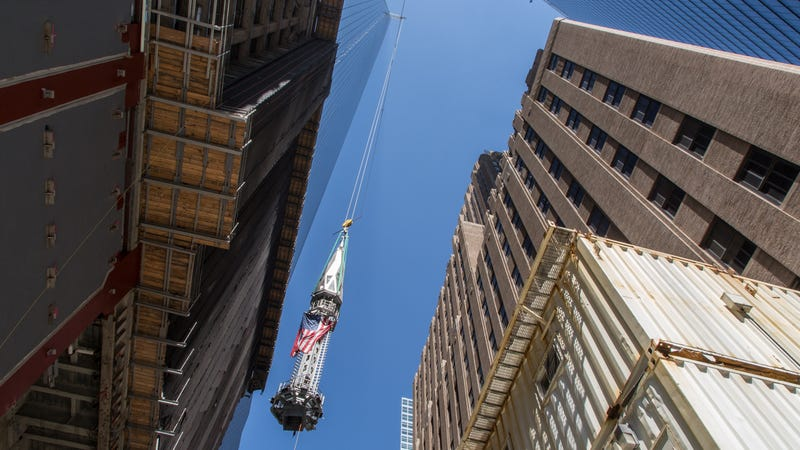 Watch the World Trade Center's Spire Rise 104 Stories into the Air