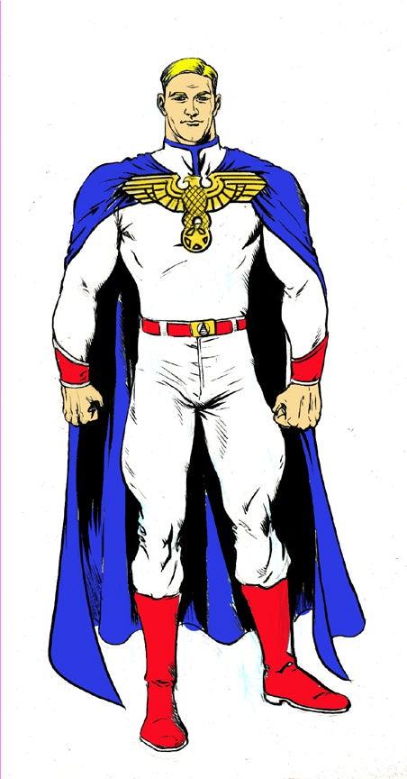 The superhuman concept art from Darick Robertson's The Boys