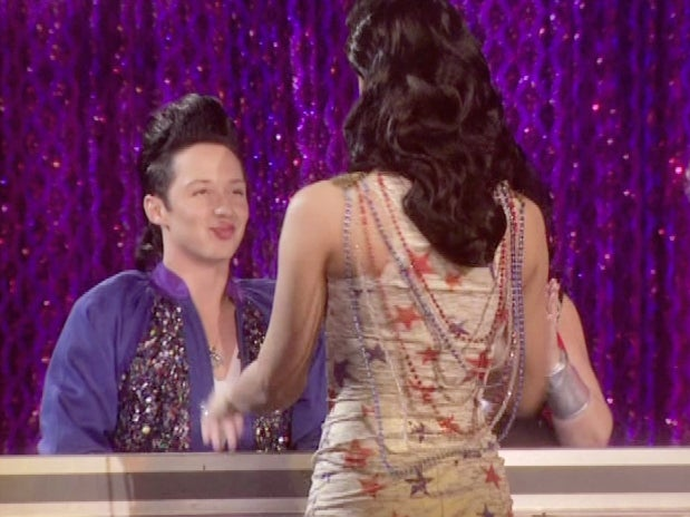 Johnny Weir Gets Kissed On RuPaul's Drag Race