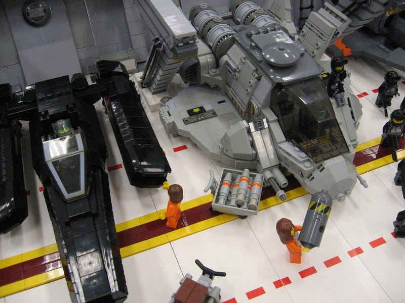 Lego Galactica Clusterfrak So Big It Can Probably Crush a Real Cylon Baseship