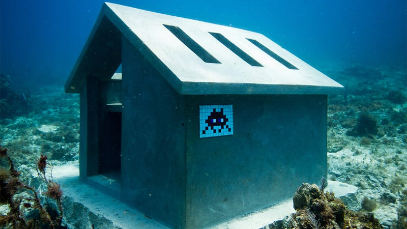 I Would Not Ever Really Expect Space Invaders On The Ocean Floor