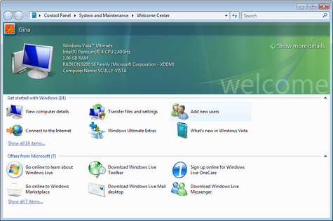 Geek to Live: Windows Vista RC 1, in screenshots