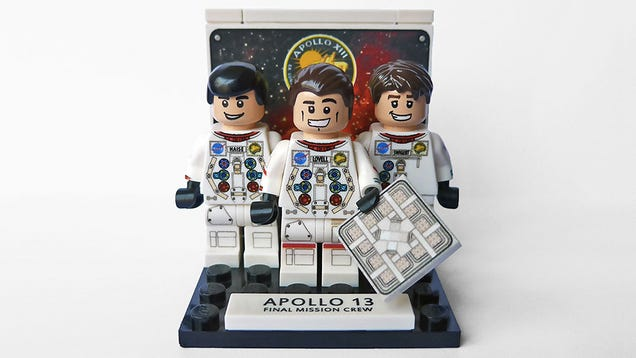 The Apollo 13 astronauts and crew are now immortalized as Lego minifigs