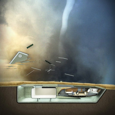 Kinetic tornado-proof houses could duck underground