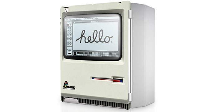 Disguise Your iPad 2 As a Really Flat Retro Apple Macintosh