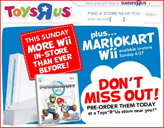 Wiis Today at Toys R Us!