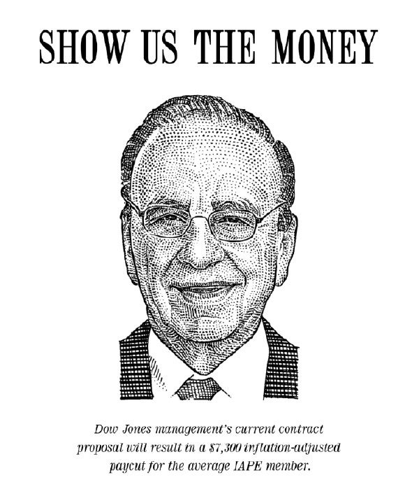 'WSJ' Rank And File Protest Murdoch's Visit With Neat Posters
