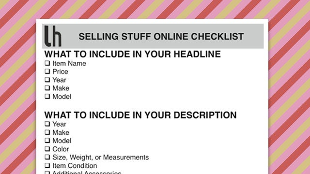 Selling Stuff Online: Remember the Important Details and Avoid Sounding Like a Scammer with This Checklist