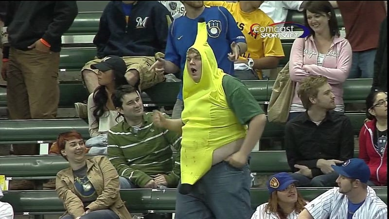 This Brewers Fan Appears To Have Eaten A Lot Of Peanut Butta Jelly In His Time