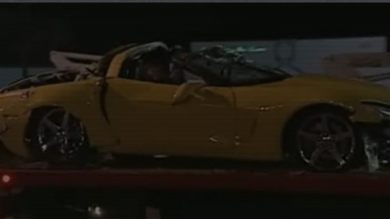 Woman flips Corvette while exiting Ferrari dealership