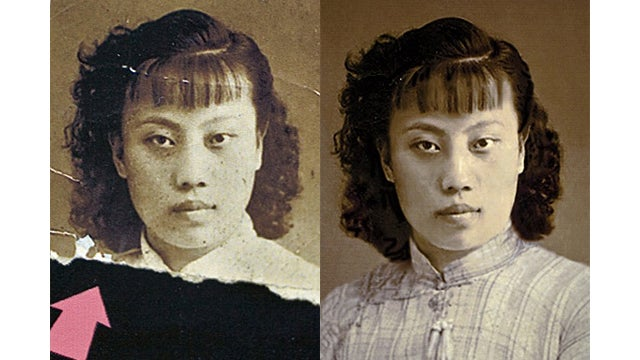 This Old Chinese Man Repairs Damaged Photos with Photoshop for Free