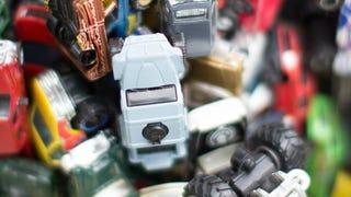 Truck diecasts as art