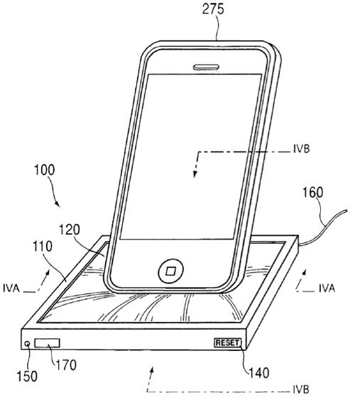 Apple Patent Shows Dock Made From 'Elastic Sponge-Like Substance' That Conforms To Shape of iPod/iPhone