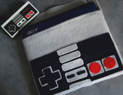Netbook Cover Fashions Itself in the Likeness of an NES Controller