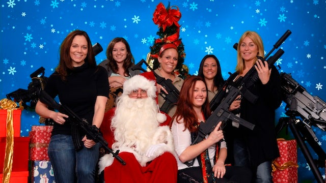 'Santa and Machine Gun' Portraits Are Oddly Charming