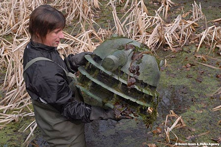 Dalek Randomly Found, Dredged Up from the Bottom of a Marsh
