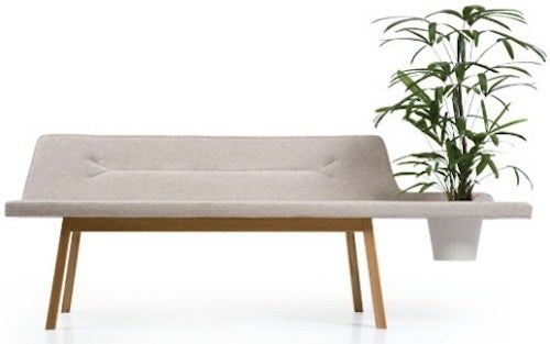 Lin Pod Bench Permits, Nay, Requires Dirt on Your Furniture